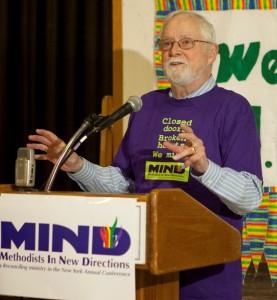 Tom Ogletree at the MIND lunch, June 2013. (Photo credit: Dave Sanders)